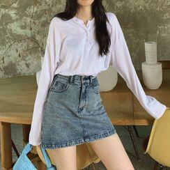 Kachin - Mini A-Line Denim Skirt
