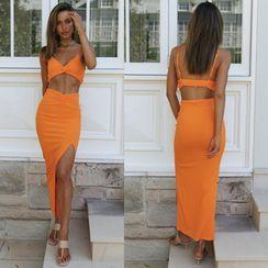 Ferola - Set: Cropped Camisole Top + Midi Skirt