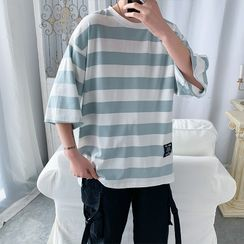 Filmas - Striped Elbow-Sleeve T-Shirt