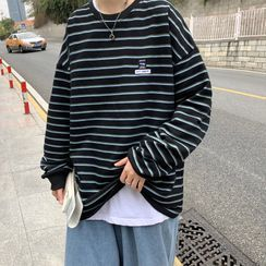 Sartho(サルソ) - Striped Sweatshirt