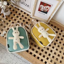 Trendy Spot - Kids Rabbit-Detailed Canvas Backpack