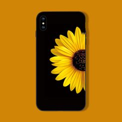 Midnight Lotus - Daisy Print Mobile Case - iPhone 11 Pro Max / 11 Pro / 11 / XS Max / XS / XR / X / 8 / 8 Plus / 7 / 7 Plus / 6s / 6s Plus