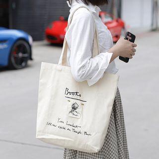 Quien - Letter Canvas Tote Bag