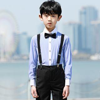 Snow Castle - Kids Set: Shirt + Suspender Pants + Bow Tie