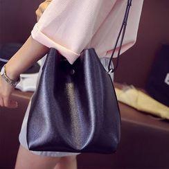 Clair Fashion - Faux-Leather Bucket Bag