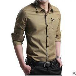 Titular - 長袖純色襯衫