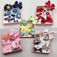 Bilibala - Bow-Accent Hair Clip Set