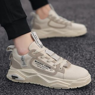 TATALON - Lettering Lace Up Sneakers