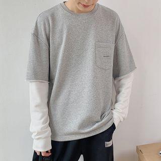 Tiaota - Mock Two-Piece Long-Sleeve T-Shirt
