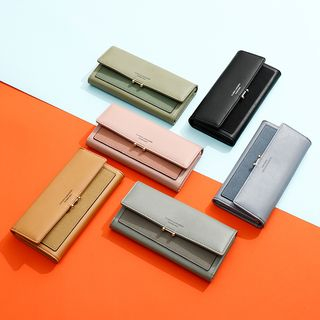 Taomicmic - Letter Faux Leather Long Wallet