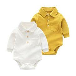 MOM Kiss - Baby Polo Bodysuit