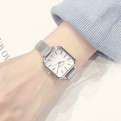 MEDIR - Retro Square Alloy Bracelet Watch