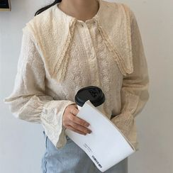 Amatler - 圓孔眼喇叭袖襯衫