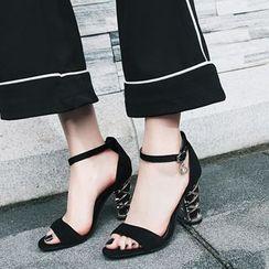 Kireina - Faux-Suede High-Heel Sandals