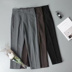 Googarden(グーガーデン) - High-Waist Straight-Cut Cropped Dress Pants