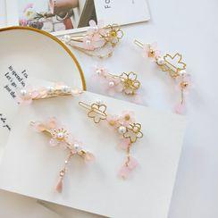 Teeny Trendy - Faux Pearl Sakura Hair Clip