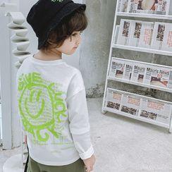 Pinty - Kids Long-Sleeve Smiley Face Print T-Shirt