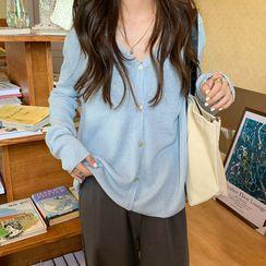 Guajillo - Long-Sleeve Plain Knit Top