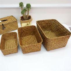 Oknana Home - Straw Woven Desk Organizer  Basket