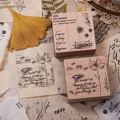 Nurburg - Retro Plant Wooden Stamp