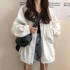 Maisee - Oversize Zip Jacket