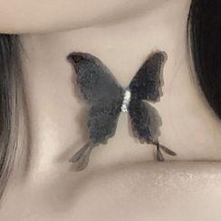 PO!NY STUDIO  - Rhinestone Butterfly Choker