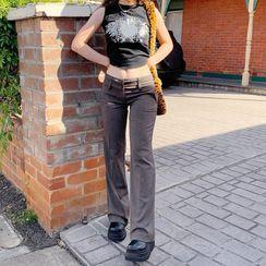 Honet - Low-Rise Boot-Cut Pants
