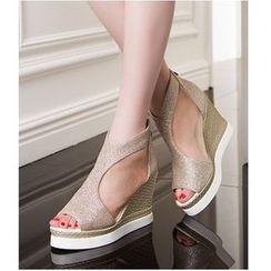 Freesia - 网纱船跟凉鞋