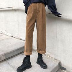 Dute - Corduroy Wide-Leg Pants