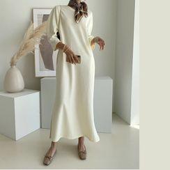 NANING9 - 3/4-Sleeve Maxi T-Shirt Dress
