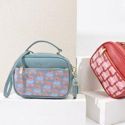 tablarosa(タブラロザ) - Bear Print Faux Leather Crossbody Bag