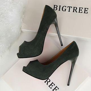 TREL - Faux-Leather Stilettos