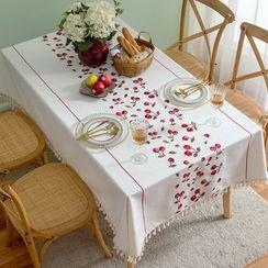 iMpressee(インプレッセ) - Cherry Print Tassel Tablecloth