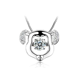 BELEC - 925 Sterling Silver Zodiac Dog Pendant with Necklace
