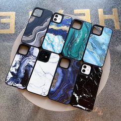Rockit - Marble Print Phone Case - iPhone 12 Pro Max / 12 Pro / 12 / 12 mini / 11 Pro Max / 11 Pro / 11 / SE / XS Max / XS / XR / X / SE 2 / 8 / 8 Plus / 7 / 7 Plus