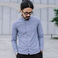 YIDESIMPLE - Long-Sleeved Oxford Shirt