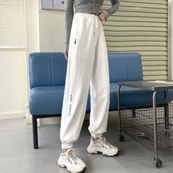 Sharis - 字母印花运动裤
