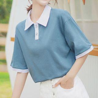 Cowkie - 双色短袖马球衫