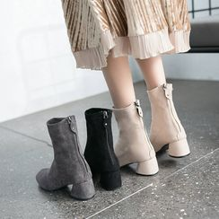 Moonwalk - Block Heel  Short Boots
