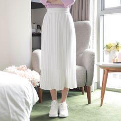 MyFiona - Long Accordion-Pleated Skirt
