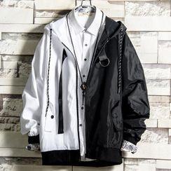 Sister Fleur - Two Tone Hooded Jacket