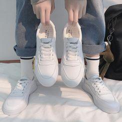Yuki Yoru - 仿皮休閒鞋