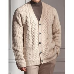 STYLEMAN - Loose-Fit Cable-Knit Cardigan