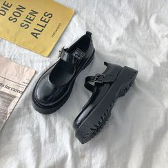 Futari - 仿皮玛莉珍平跟鞋