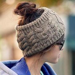 Eva Fashion - Stirnband aus Rippstrick