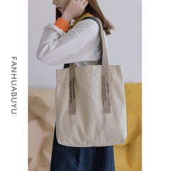 wallFLOWERz - Lettering Canvas Tote Bag