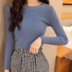 Gilmort - Plain Knit Top
