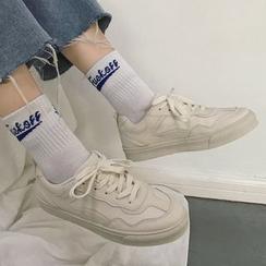 Satomi - Plain Lace Up Sneakers