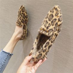 The Shoe House - Leopard Print Loafers