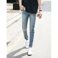 STYLEMAN - Drawcord Elasticized Waist Jeans